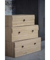 IB LAURSEN Bambusová krabička Natural Velikost S