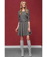 Zaps Elegantní dámské úpletové šaty Altea Grey šedá 40
