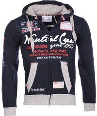 Geographical Norway Sweat-shirt Géographical Norway Homme - Veste gilet à capuche Gautical bleu