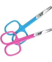 Magnum nůžky bezpečnostní dětské modré - silikon, nikl 9 cm