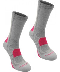 Karrimor Walking Socks 2 Pack Ladies, ligh grey fusch