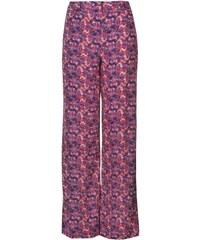 Golddigga Wide Long Pants Ladies, pink/purp flora