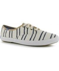 Keds Champion Stripe Canvas Shoes, white/blue