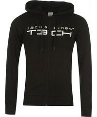 Jack and Jones Print Hoodie, black