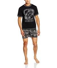 Freegun Herren Sportswear-Set Ah.Freeblac.pshb1.Mz