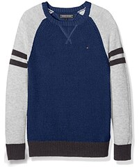 Tommy Hilfiger Jungen Pullover Structured Colorblock Cn Sweater L/s