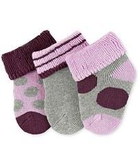 Sterntaler Baby-Mädchen Socken Erstlingssöck.Punkte, 3er-Pack, Grau (Silber Melange 542), One size (Herstellergröße: 0)