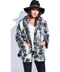 Maille Girls Dámský kabát MANTEAU DAPHNE P5076 NOIR