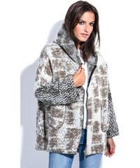 Maille Girls Dámský kabát MANTEAU DAPHNE P5076 TAUPE