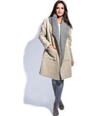 Maille Girls Dámský kabát MANTEAU FABIOLA P16057 BEIGE