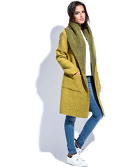 Maille Girls Dámský kabát MANTEAU FABIOLA P16057 ANIS