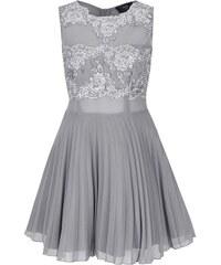 Šaty ve stříbrné barvě s krajkou AX Paris