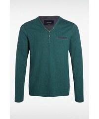 T-shirt homme maille fine chinée Vert Coton - Homme Taille L - Bonobo