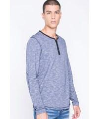 T-shirt homme maille moulinée Bleu Coton - Homme Taille L - Bonobo