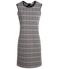 Robe motif graphique bicolore Blanc Polyester - Femme Taille 36 - Cache Cache