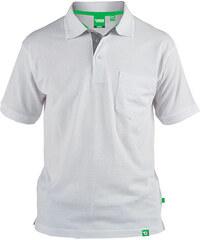 Lesara D555 Poloshirt mit farblich abgesetzter Knopfblende - Weiß - 3XL