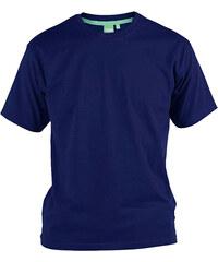 Lesara D555 Baumwoll-T-Shirt im Basiclook - Navy - XL