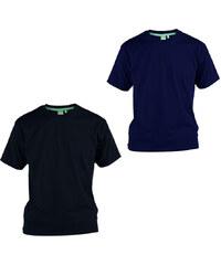 Lesara 2er-Set D555 T-Shirt aus Baumwolle - Schwarz & Blau - 3XL