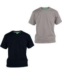 Lesara 2er-Set D555 T-Shirt aus Baumwolle - Schwarz & Grau - 3XL
