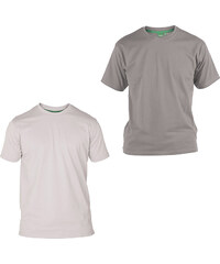 Lesara 2er-Set D555 T-Shirt aus Baumwolle - Grau & Weiß - 3XL