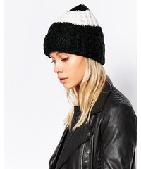 Cheap Monday - Bonnet à rayures - Noir