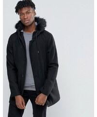 D-Struct - Parka habillée en laine mélangée - Noir