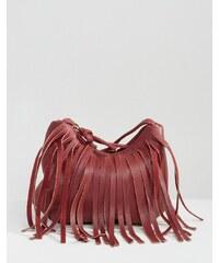 Yoki Fashion - Sac bandoulière à franges - Rouge