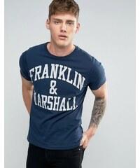 Franklin & Marshall Franklin and Marshall - T-shirt avec logo - Bleu marine