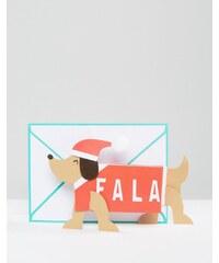 Meri Meri - Carte de Noël accordéon avec teckel - Multi
