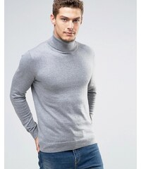 Esprit - Pullover aus Kaschmirmischung mit Rollkragen - Grau