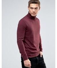 Esprit - Pullover aus Kaschmirmischung mit Rollkragen - Rot