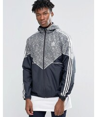 adidas Originals - AY8353 - Graue Windjacke mit Logo - Grau