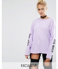 Adolescent Clothing - T-shirt manches longues d'Halloween Teen Witch - Violet