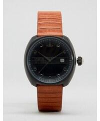 Vivienne Westwood - Armbanduhr mit hellbraunem Lederband - Bronze
