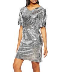 Boohoo stříbrné flitrové šaty na večer