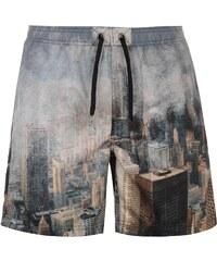 Firetrap Blackseal City Subject Mens Swim Shorts, multi
