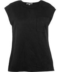 Glamorous Suedette Pocket Top Ladies, black