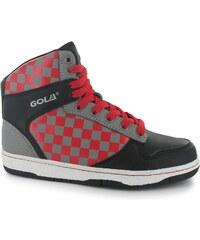 Gola Hawk Boys Trainers, black/grey/red