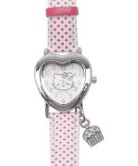 Hello Kitty Girls Analogue Watch, white/pink spot