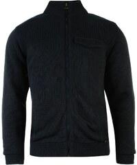 Kangol Fleece Lined Knit Cardigan Mens, navy