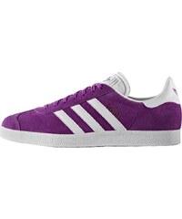 adidas Originals GAZELLE Baskets basses shock purple/white/gold metallic