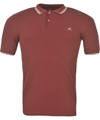 Jilted Generation Tip Mens Polo Shirt, burgundy/white