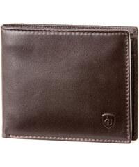 Dv Portefeuille Portefeuille en cuir Nappa pour homme avec 2 porte-monnaie et fe
