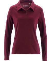 bpc bonprix collection Basic Baumwollshirt Rib-Jersey langarm in rot für Damen von bonprix