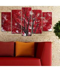 Lesara 5 Panneaux muraux avec arbre en automne