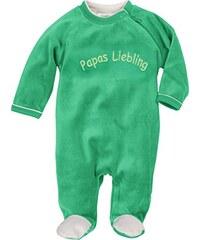 Schnizler Unisex Baby Schlafstrampler Schlafoverall Nicki mit Stickerei: Papas Liebling, Oeko-Tex Standard 100