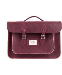 "The Leather Satchel Co. 15"" kožená aktovka Leather Satchel Premium Mahagon"