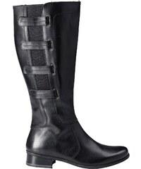 Große Größen: sheego XL-Weitschaftstiefel, schwarz, Gr.43-44