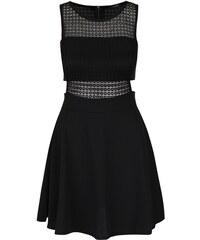 Černé krátké šaty s průstřihy a krajkovanými detaily Haily´s Juliana