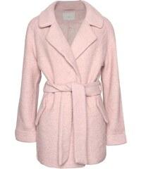 Světle růžový vlněný kabát ICHI Sarvi